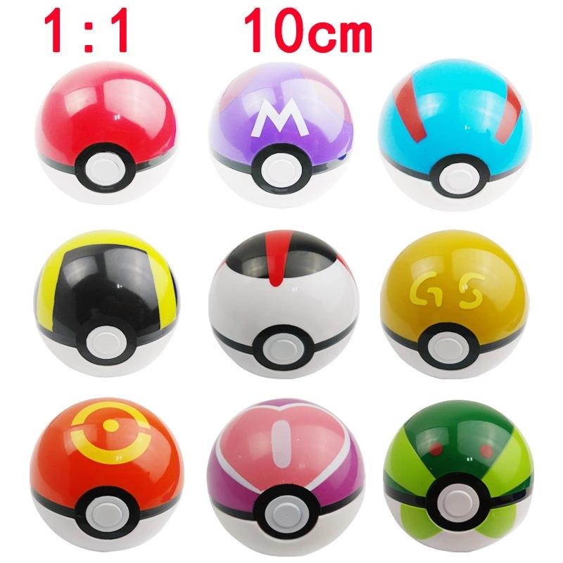 1Pcs 10cm Pokemon Ball Figures ABS Anime Action Figures Pokemon PokeBall Toys Super Master Pokemon Ball Toys Pokeball(China (Mainland))