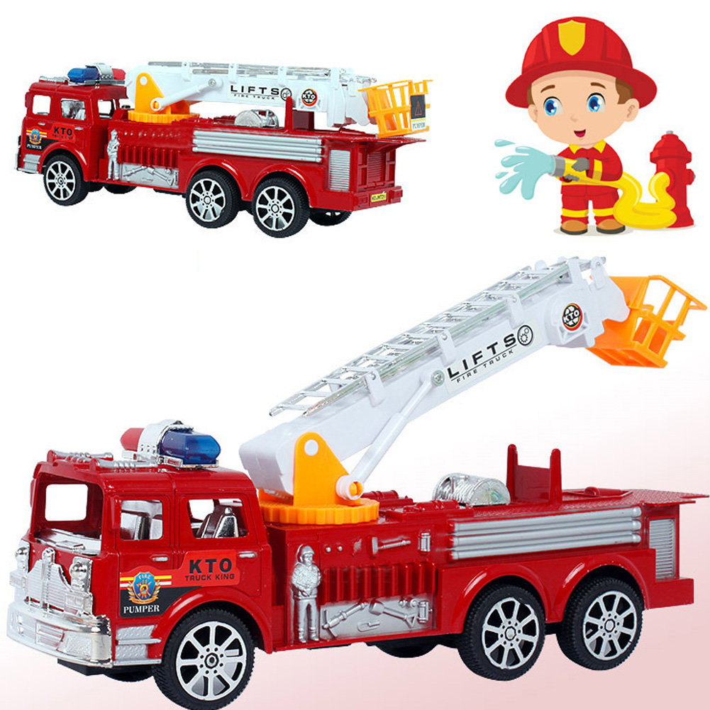 1Pcs 29x10cm Cool Toy Fire Truck Toys Fire Engines Military Equipment Models Car Vehicles Collection K5BO(China (Mainland))