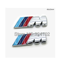 50ps Small Mtech m3 Resin ABS Chrome 3D Side Grill Boot Badges Emblem Stikcer 45x15mm(China (Mainland))