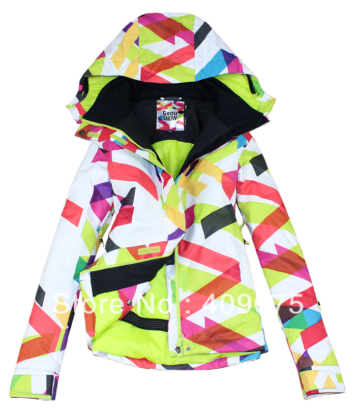 2013New Fashion+Hot Sale Star Product!water/windproof-Mix Dreen Color Woman snowboard/sking jacket for single/double panels-XS-L(China (Mainland))