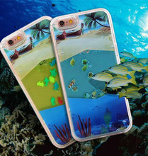 For IPhone6S Plus Liquid Fish Shell for IPhone6S Mobile Phone Shell Sand Liquid Protective Sleeve and Colorful Fish Shell