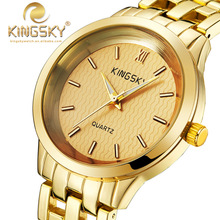 Relogio Feminino Japan Movement Steel Bracelet Quartz Watch Ladies Casual Rose Gold Watch Brand KINGSKY Clock Women Wristwatch