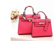 free shipping 2014 new tote bag candy color bags handbags women france H famous brands 28cm