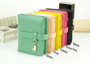 1 x Hot Модный Lady Женщины Lovely Purse Clutch Wallet Короткий Small Bag Кожа PU ...