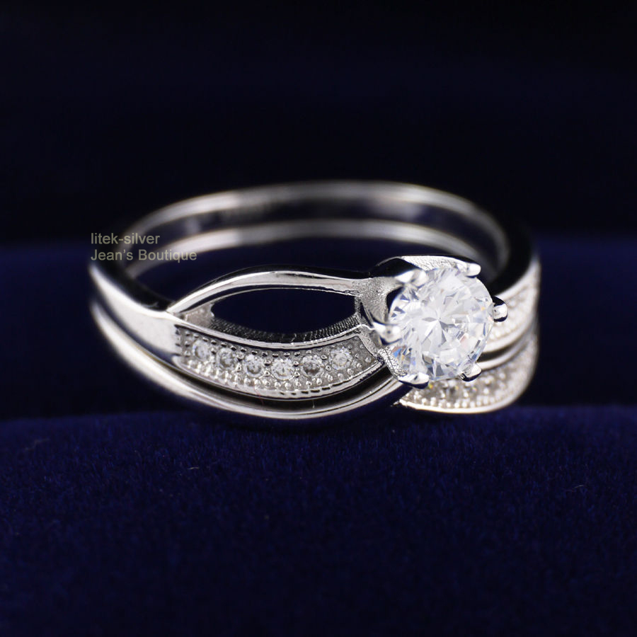 wholesale 35 when buying 5 2 rings set 925 sterling