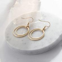 Ey914 européen à la mode punk Vintage multi-couche géométrique cercle boucles d'oreilles exagéré femelle bijoux accessoires(China)
