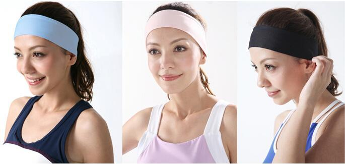 Wide plain changed hair ribbon headband sports yoga elastic beam wipes multi-color optional hair hair band(China (Mainland))