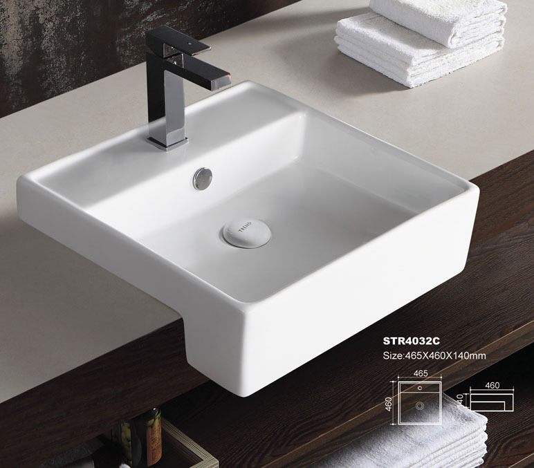 Square Bathroom Sink With Cabinet : Square Modern Bathroom Sink Unit. Floating Bathroom Sink Cabinets ...