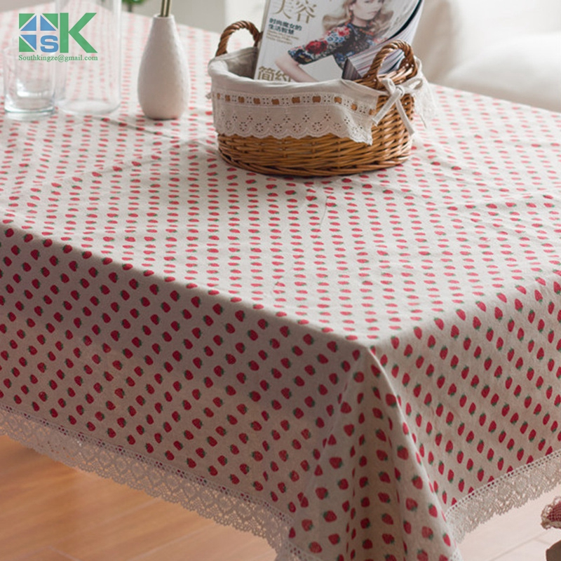 2016 new new Household multi-fuctional cloth tablecloths rustic strawberry tea table linen tablecloths cover towel(China (Mainland))
