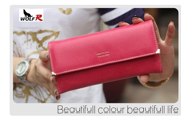 2014 female multifunctional cowhide womens leather wallet day clutch coin purse mobile phone bag  card holder free shipping<br><br>Aliexpress