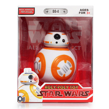 Star Wars The Force Awakens BB8 BB-8 Droid Robot With Music Light Plastic Action Figure 5″ Doll Toy Kids Birthsday Gift