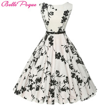 Buy Women Summer Dress 2017 plus size clothing Audrey hepburn Floral robe Retro Swing Casual 50s Vintage Rockabilly Dresses Vestidos for $23.81 in AliExpress store