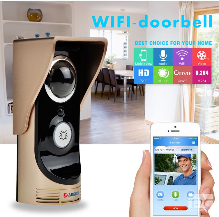 Фотография Remote Control Open Lock WIFI Doorbell Wireless Intercom Video Door Phone