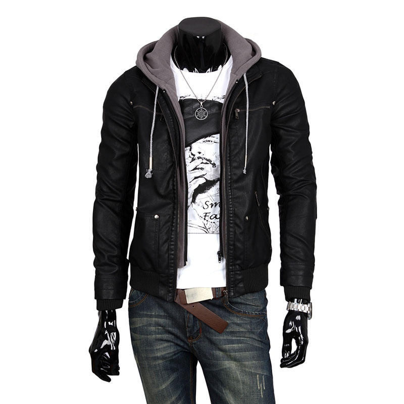 Leather Jacket With Hoodie Photo Album - Reikian
