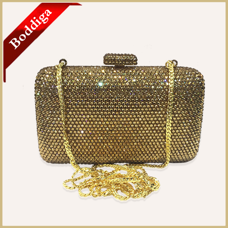 Gold Crystal Clutches Luxury Women Evening Bags Chain Shoulder Bag for Party Wedding Evening Purses and Handbags Gold DHL Free<br><br>Aliexpress