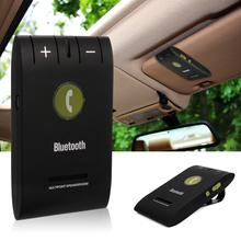 Wireless Bluetooth 4.0 Car Kit for Phone Magnetic Handsfree Phone MP3 Music Speaker Set Sun Visor Clip MA361