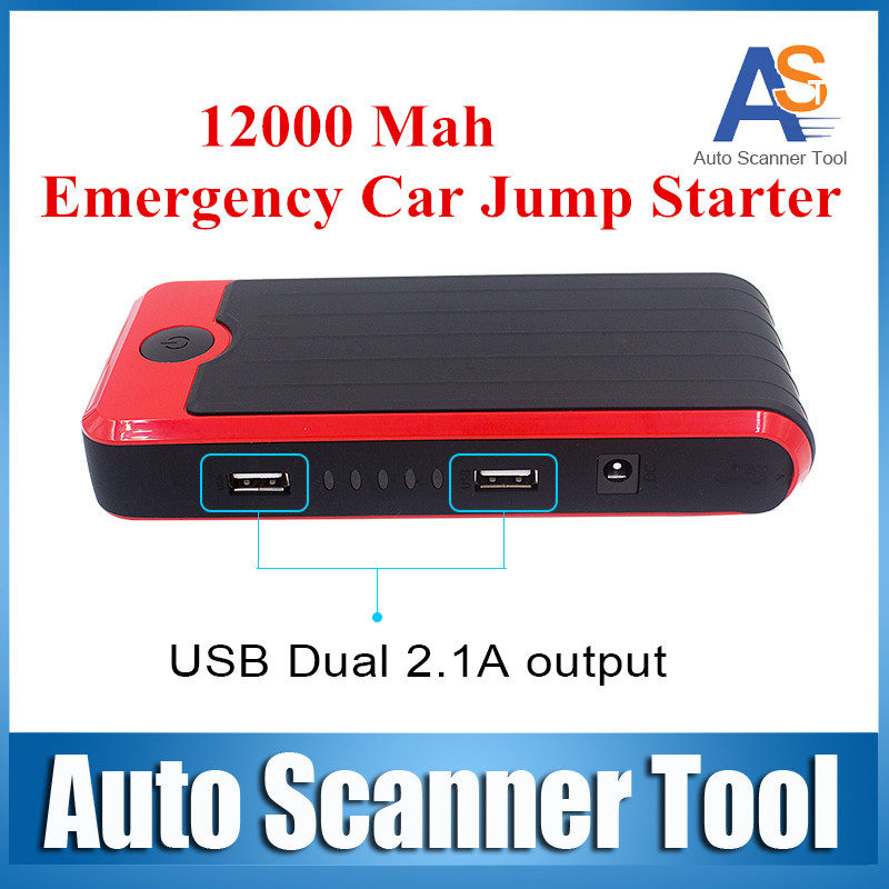12000Mah Multi-Function Li-polymer Battery Power Bank Emergency Jump Start For Car Jump Starter supplier car jump start(China (Mainland))