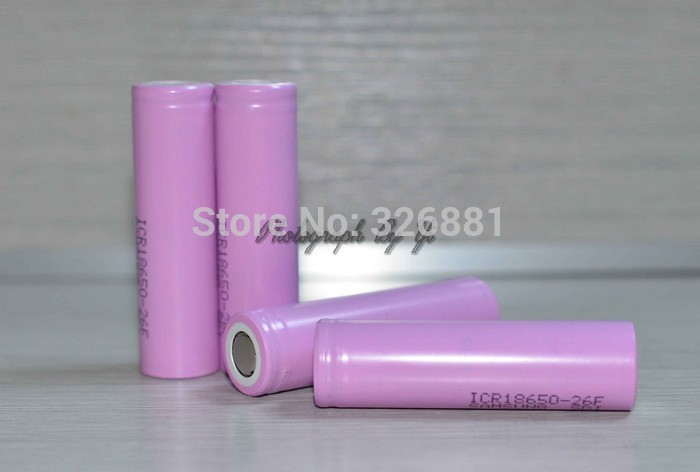 4pcs 3 7V 2600mAh Original For Samsung 18650 rechargeable li ion Lithium Battery 4x ICR18650 26F