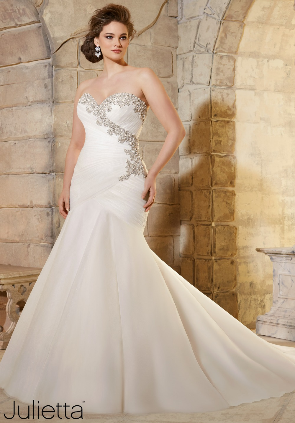 plus size wedding dress 2016 sweetheart neckline ForPlus Size Beaded Wedding Dresses