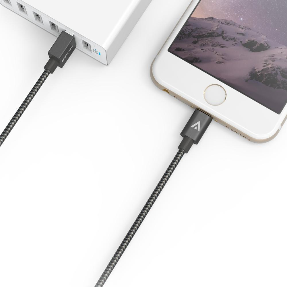 ANKER MFI Certified Nylon Braided USB Cable With For Lightning Connector For iPhone 6s 6 For Plus