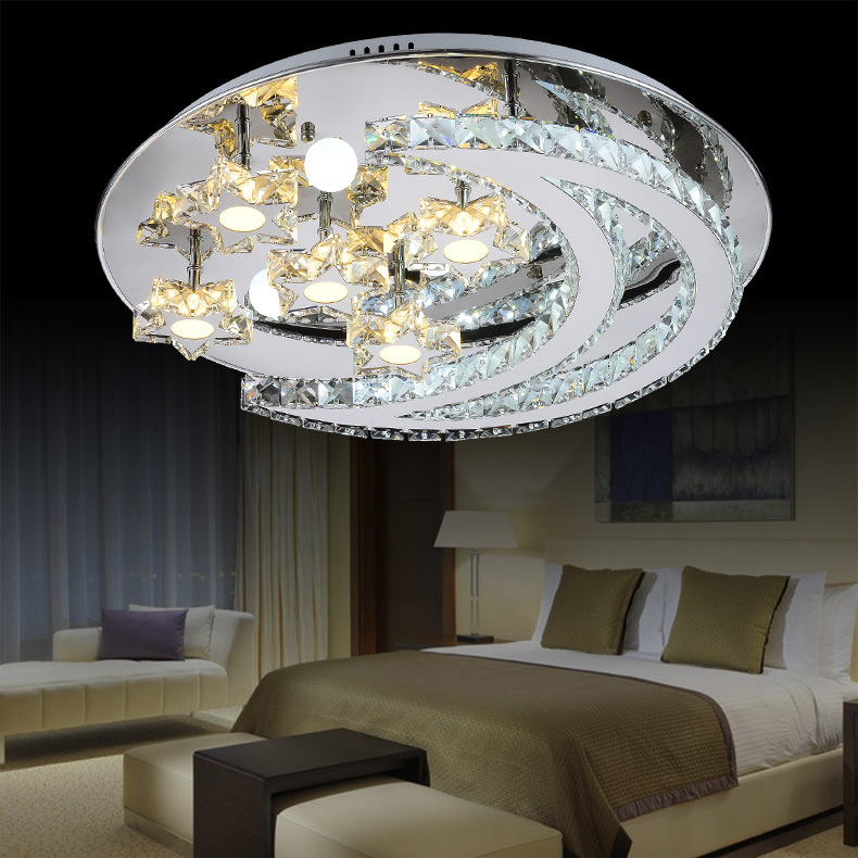 crystal lamps ceiling lamps bedroom modern minimalist restaurant lamps