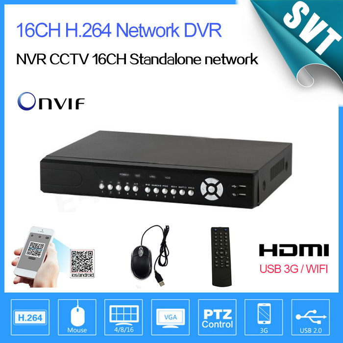 NVR CCTV 16CH Standalone network DVR video Recorder system,4CH Audio,4CH Alarm,HDMI, 3G and WIFI Free Shipping, Security(China (Mainland))