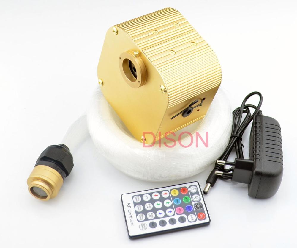 NEW 16W Twinkle RGBW LED Fiber optic star ceiling lights kit 0.75mm+1.0mm+2.0mm optical fiber end glow light engine RF remote(China (Mainland))