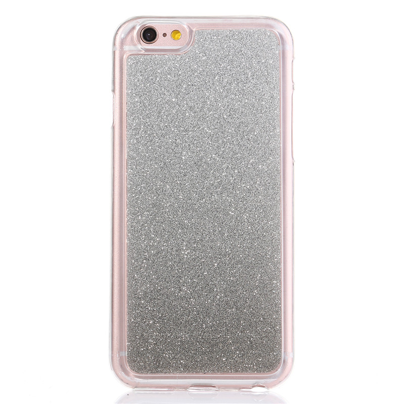 Fashion Bling Glitter Gradient rainbow Cases carcasa For Samsung Galaxy Core 2 G355 Cover Soft TPU Matte shimmering powder Cases(China (Mainland))