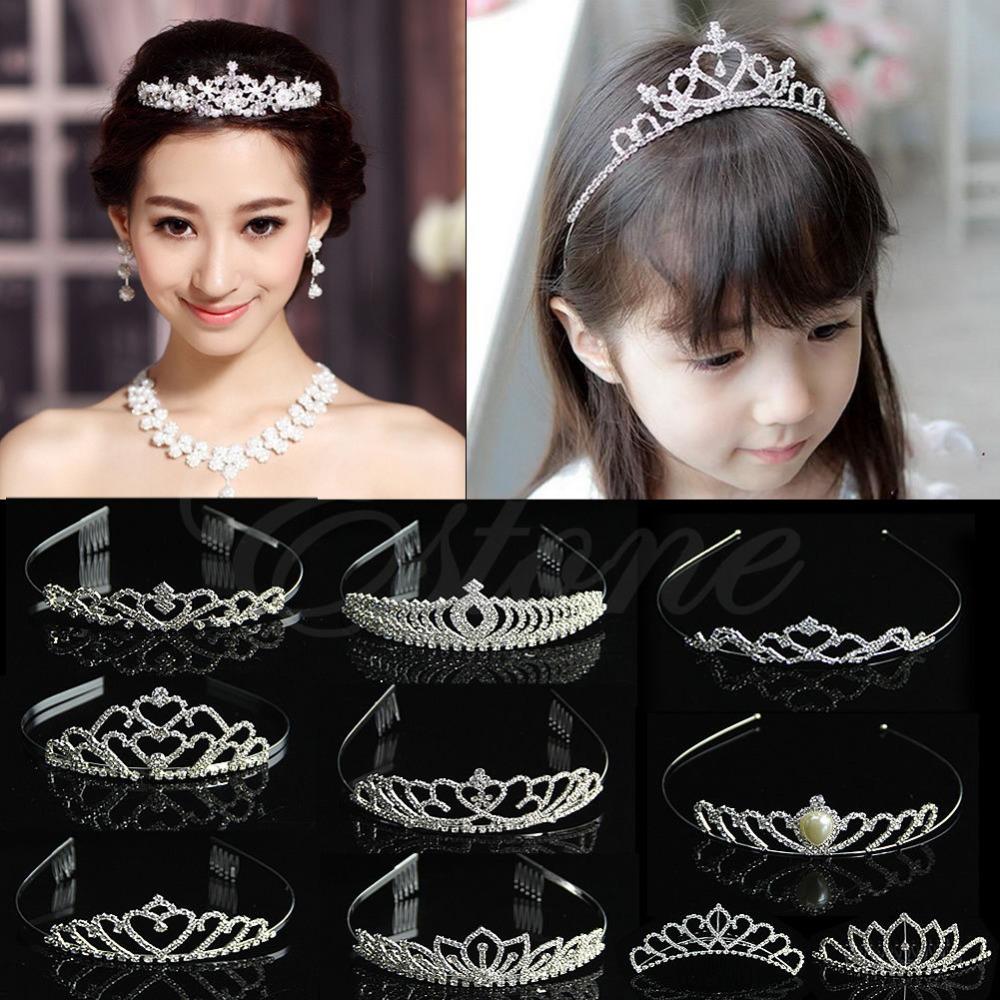 Wedding Bridal Comb Tiara Rhinestone Crystal Crown Pageant Prom Hair Headband Free shipping-Y103(China (Mainland))