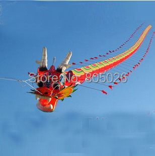 free shipping high quality 7M Chinses traditional dragon kite Chinese kite design decoration kite wei kite factory weifang toys(China (Mainland))