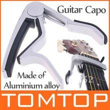 Guitar Capo Made of Aluminium alloy Silver or Black Color Guitarra Capotraste Top Quality(China (Mainland))