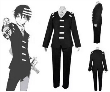 Free shipping Anime New Arrival Soul Eater Death the Kid Cosplay Costume(China (Mainland))