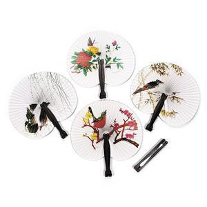 New Beautiful Wedding Decoration Paper Folding Fan Practical Party Supplies Hand Fan(China (Mainland))