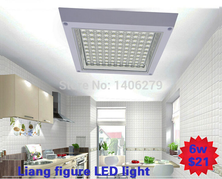 free shipping 6W wholeasale led ceiling lamp white/warm white Open/concealed Installation led kitchen light for bedroom restroom(China (Mainland))