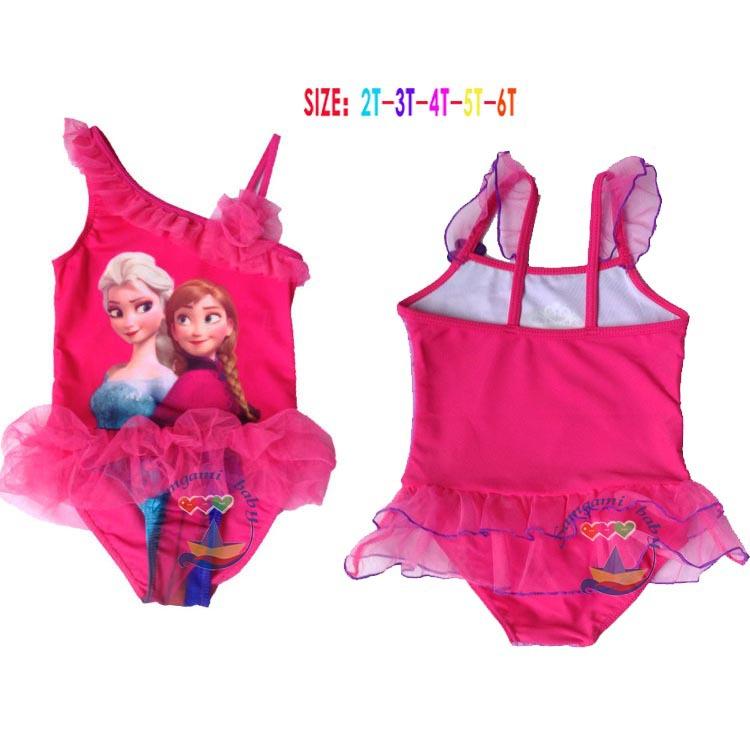 Здесь можно купить  High Quality New 2015 girls cartoon anna swimwear kids fashion summer Oblique One Pieces Children