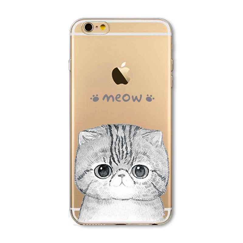 New Phone Case For Apple iPhone 5 5S SE 5C 6 6S 6Plus 6s Plus Soft TPU Silicon Transparent Thin Cover Cute Cat Owl Animal Case(China (Mainland))