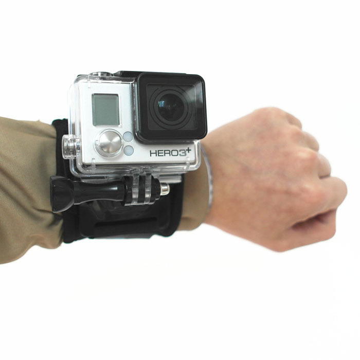 Gopro Accessories 360 Degrees Armlet Wrist Band Arm Shell Strap with Go pro Adapter Mount For GoPro Hero4 3+ 3 xiaomi yi sj4000