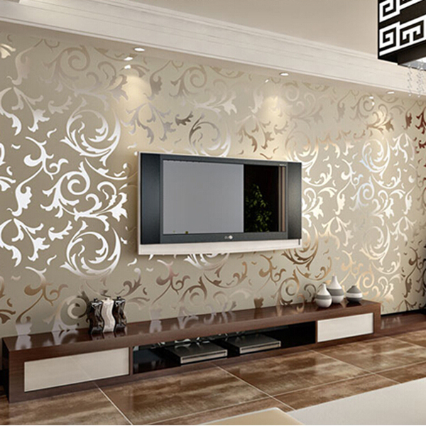 Papel De Parede Para Sala Living Room PVC Wallpaper