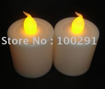Fashion jewelrySell New Design Free shipping Button cell operated LED Round Candle light