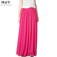 SK71 Celebrity Style Women's Pastel Flowy Volume Candy Coloured Pleated Maxi Long Skirt Plus Size Free Drop Shipping