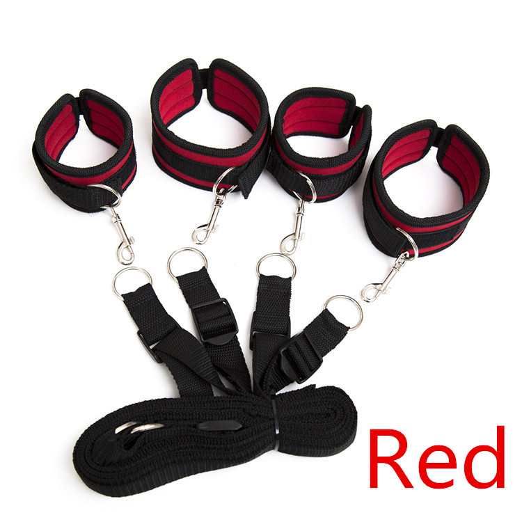 2 Series Bdsm Bondage Nylon Sponge Rope Under Bed Restraints Tools With Handcuffs Sex Toys For Couples Or Women Adult Games