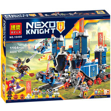 Nexus Knights Fortrex combination Castle Building Block Set Clay Aaron Fox Axl Minifigure LEPIN 70317 C0A636 - Beautiful Female's World store