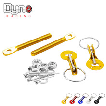 Dyno  Fit ALL Racing Speed aluminum Alloy Silver Bonnet Hood Pin Lock Kit Down Hood Lock Pins(China (Mainland))