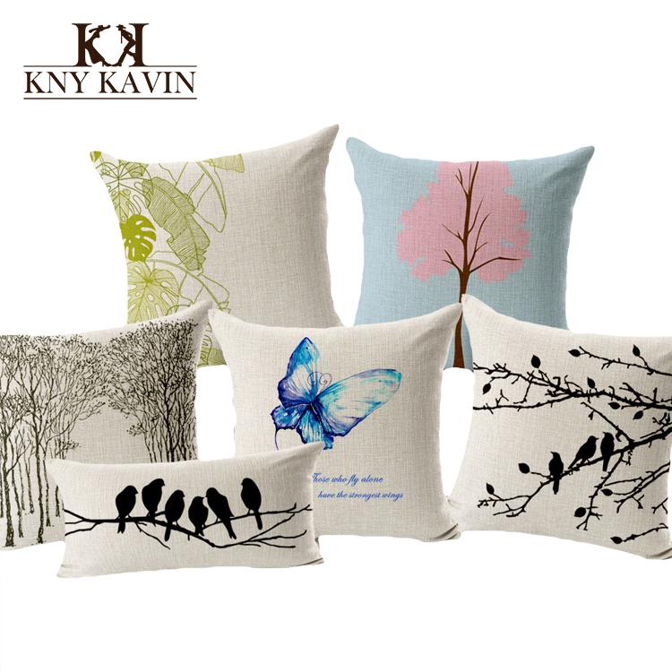 Гаджет  Fashion European Home Cushion Covers Beautiful Forest Throw Pillows Car Decoration Cushion Tree Birds Cushion Throw Pillow HH497 None Дом и Сад