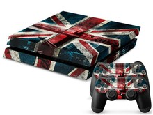 Play 4 PS4 Skin 1 Set Retro British Flag Skins For play station 4 Sticker Decal