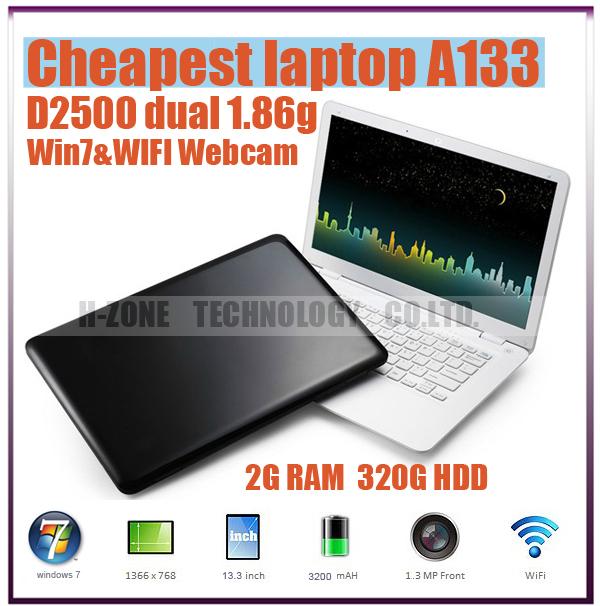 Free shipping New 13.3 inch Ultra Slim Notebook Laptop Computer 2G RAM& 320G HDD Win 7 Dual Core 1.86ghz Best Ultrabook A133(Hong Kong)