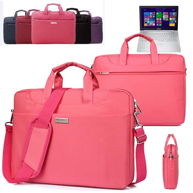 Soft Nylon Waterproof Laptop Case Sleeve Shoulder Bag Briefcase w/ Pocket & Handle for ASUS ZenBook Pro UX501 15.6 inch Notebook