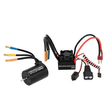 3650 3900KV 4P Sensorless Brushless Motor & 60A Brushless ESC Splash-Proof with 5.8V/3A Switch Mode BEC for 1/10 RC Car(China (Mainland))