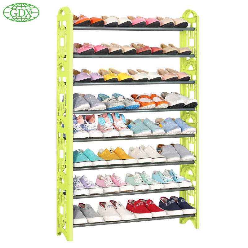 GDX 1pc New 8 Tiers 32 Pairs Shoe Shelf Rack Organizer Shoe Rack Shoes Stand Organizer DIY Simple Zapatos Organizadors Shelves(China (Mainland))
