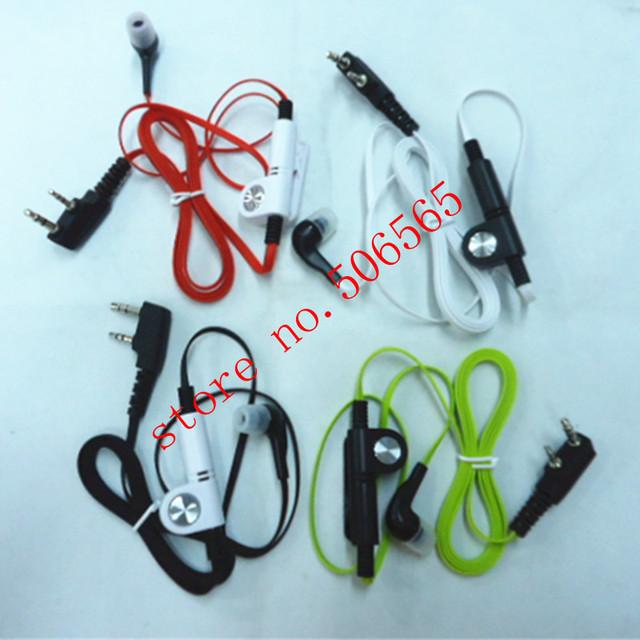 colorful fashion comfortable in ear headphone earpiece K plug for baofeng wouxun puxing tonfa linton quansheng etc walkie talkie